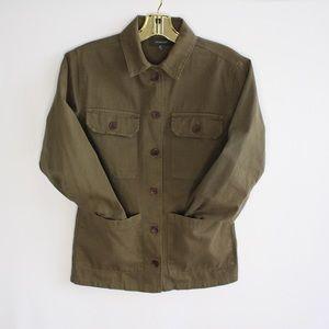 Utility Cargo Olive Jeans Jacket